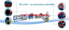 Bi-color, Bi-layer co-extrusion extruder