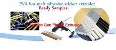 EVA hot melt adhesive sticker extruder