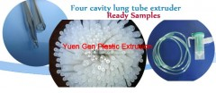 Four cavity lung tube extruder