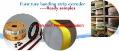 Furniture banding strip extruder