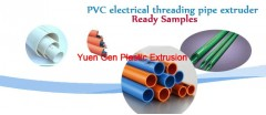 PVC electrical thread pipe extruder
